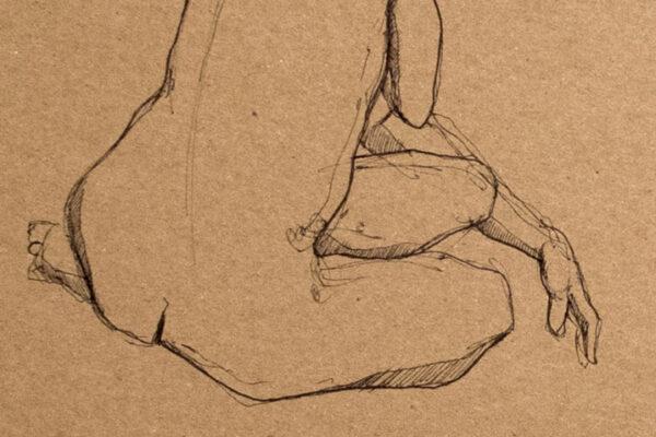 Bianca Faltermeyer Pencil Nude Drawing Akt05