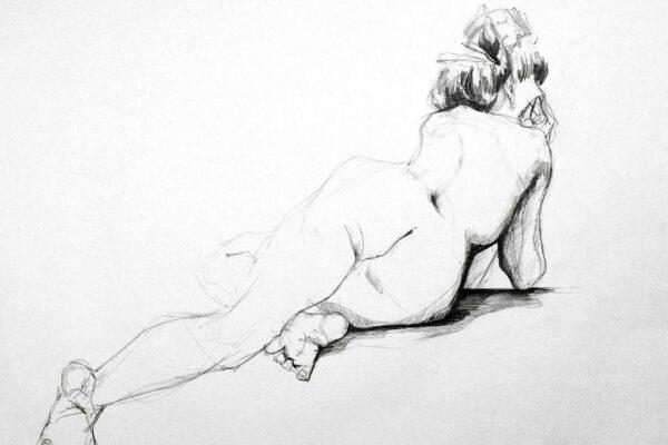 Bianca Faltermeyer Pencil Nude Drawing Akt01