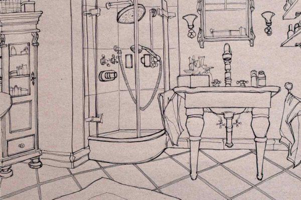 BiancaFaltermeyer_Pen_drawing_bathroom