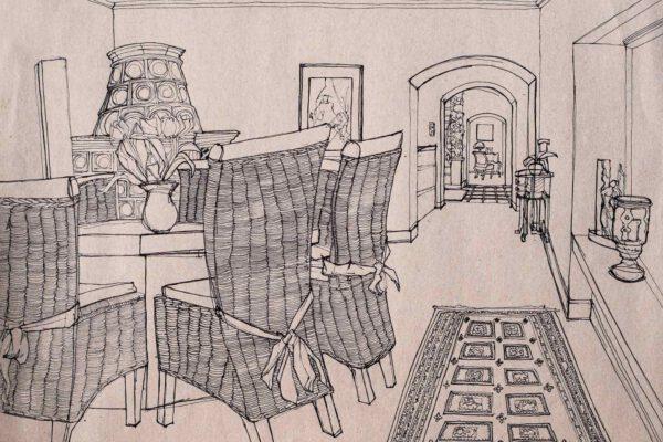 BiancaFaltermeyer_Pen_drawing_room