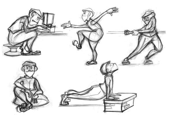 Bianca Faltermeyer Art Pencil Drawing Character Design Rough Sketch Line Art 02