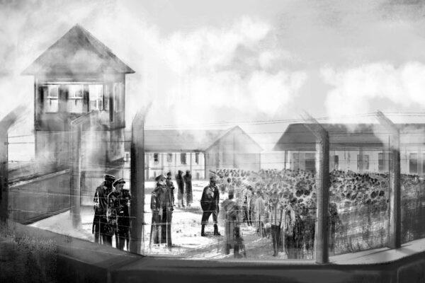Bianca Faltermeyer Illustration Doku KZ Dachau Teil1 München Bild01