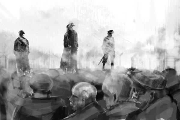 Bianca Faltermeyer Illustration Doku KZ Dachau Teil1 München Bild08