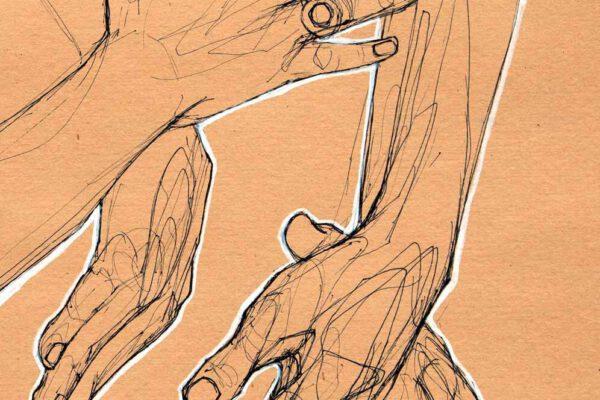 Bianca Faltermeyer Label Artwork Pen Drawing Hands 01