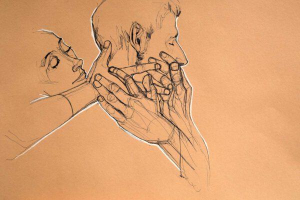 Bianca Faltermeyer Label Artwork Pen Drawing Couple